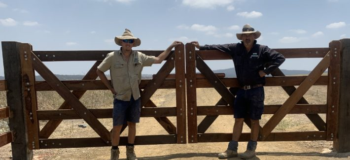 Custom Ironbark gates by Darren Skewis Fencing